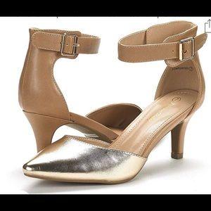 Low heel dress pump